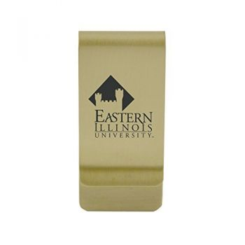 East Carolina University|Money Clip with Contemporary Metals Finish|Solid Brass|High Tension Clip to Securely Hold Cash, Cards and ID's|Silver