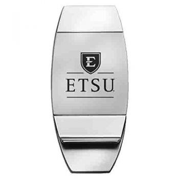 East Tennessee State University - Two-Toned Money Clip - Silver