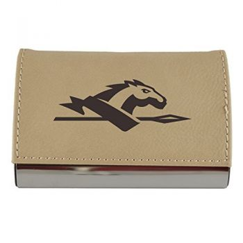 Velour Business Cardholder-Longwood University-Tan
