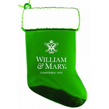 College of William & Mary - Chirstmas Holiday Stocking Ornament - Green