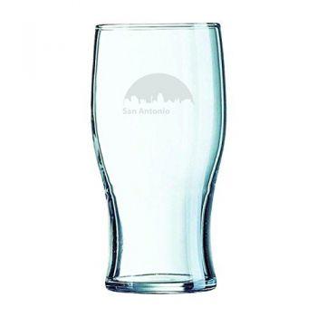 19.5 oz Irish Pint Glass - San Antonio City Skyline