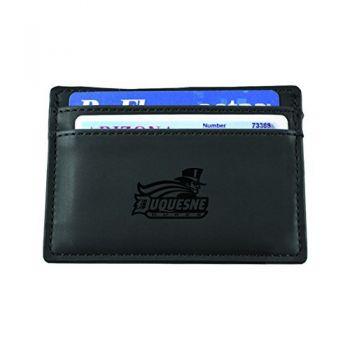 Duquesne University-European Money Clip Wallet-Black