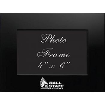 Ball State University - 4x6 Brushed Metal Picture Frame - Black