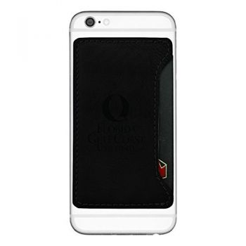 Florida Gulf Coast University-Cell Phone Card Holder-Black