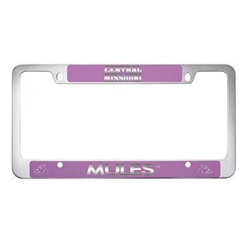 University of Central Missouri -Metal License Plate Frame-Pink