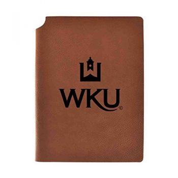 Western Kentucky University Velour Journal with Pen Holder|Carbon Etched|Officially Licensed Collegiate Journal|