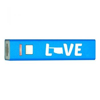 Oklahoma-State Outline-Love-Portable 2600 mAh Cell Phone Charger-