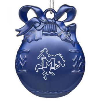 McNeese State University - Pewter Christmas Tree Ornament - Blue