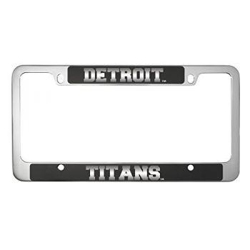 University of Detroit Mercy-Metal License Plate Frame-Black