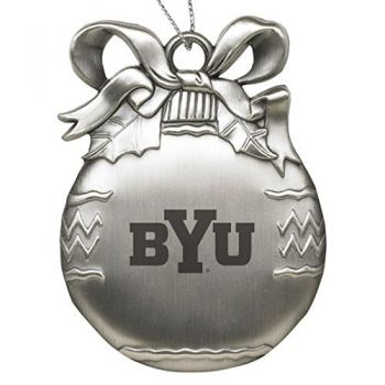 Brigham Young University - Pewter Christmas Tree Ornament - Silver