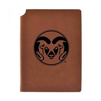Colorado State University Velour Journal with Pen Holder|Carbon Etched|Officially Licensed Collegiate Journal|
