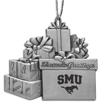 Southern Methodist University - Pewter Gift Package Ornament