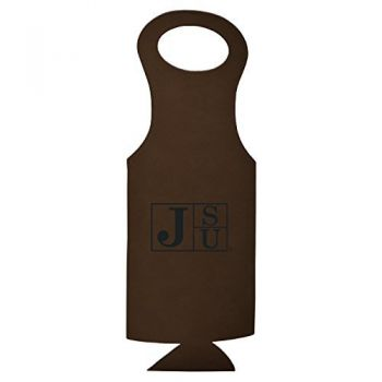 Jackson State University-Velour Wine Tote-Brown