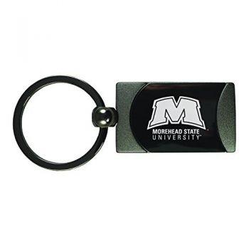 Morehead State University -Two-Toned Gun Metal Key Tag-Gunmetal