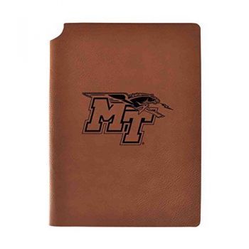 Middle Tennessee State University Velour Journal with Pen Holder|Carbon Etched|Officially Licensed Collegiate Journal|