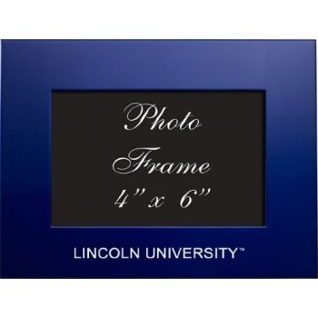 Lincoln University of Missouri - 4x6 Brushed Metal Picture Frame - Blue