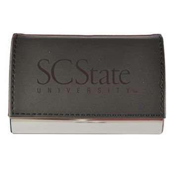 Velour Business Cardholder-South Carolina State University-Black