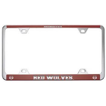 Arkansas State University -Metal License Plate Frame-Red