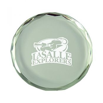 La Salle State University-Crystal Paper Weight