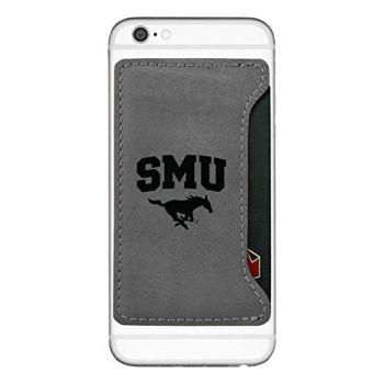 Southern Methodist University-Cell Phone Card Holder-Grey