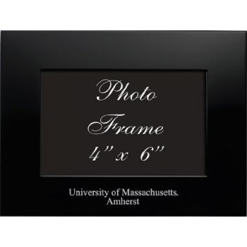 University of Massachusetts Amherst - 4x6 Brushed Metal Picture Frame - Black