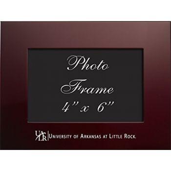 University of Arkansas at Little Rock - 4x6 Brushed Metal Picture Frame - Burgandy