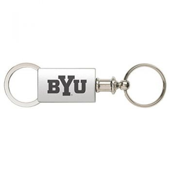 Brigham Young University - Anodized Aluminum Valet Key Tag - Silver