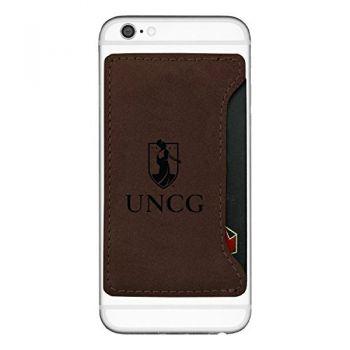 University of North Carolina at Greensboro-Cell Phone Card Holder-Brown