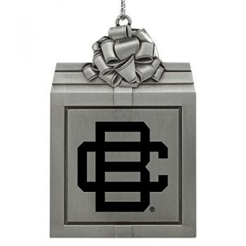 Bethune-Cookman University-Pewter Christmas Holiday Present Ornament-Silver