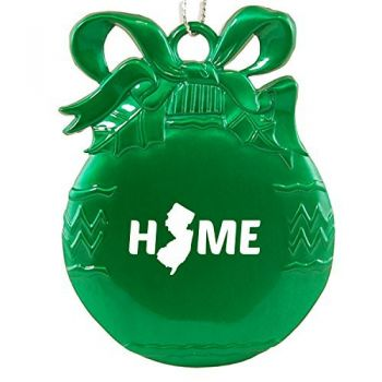 Pewter Christmas Bulb Ornament - New Jersey Home Themed - New Jersey Home Themed