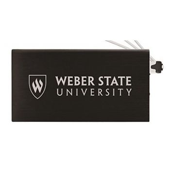 8000 mAh Portable Cell Phone Charger-Weber State University -Black