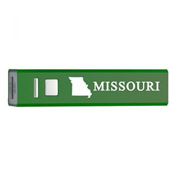 Missouri-State Outline-Portable 2600 mAh Cell Phone Charger-