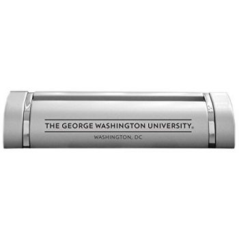 The George Washington University-Desk Business Card Holder -Silver