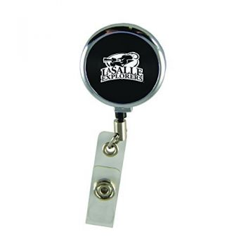 La Salle State University-Retractable Badge Reel-Black