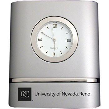 University of Nevada, Reno- Two-Toned Desk Clock -Silver