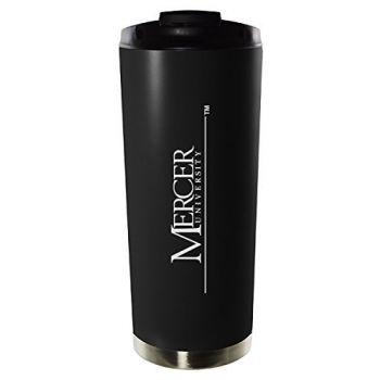 Mercer University-16oz. Stainless Steel Vacuum Insulated Travel Mug Tumbler-Black