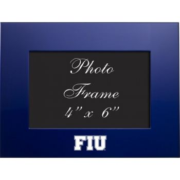 Florida International University - 4x6 Brushed Metal Picture Frame - Blue
