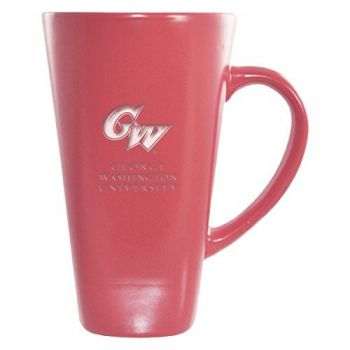 George Washington University -16 oz. Tall Ceramic Coffee Mug-Pink