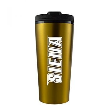 Siena College-16 oz. Travel Mug Tumbler-Gold