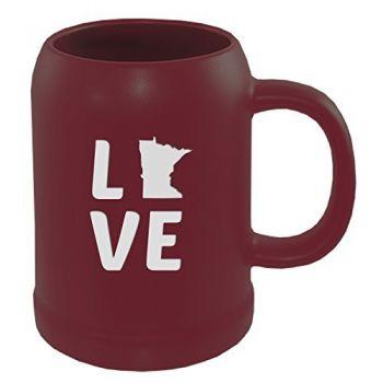 22 oz Ceramic Stein Coffee Mug - Minnesota Love - Minnesota Love