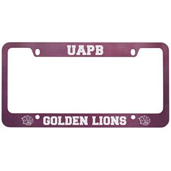 University of Arkansas at Pine Buff -Metal License Plate Frame-Pink