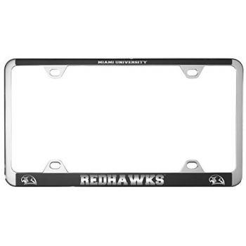 Miami University -Metal License Plate Frame-Black