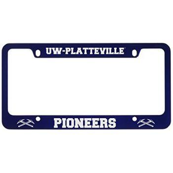 University of Wisconsin-Platteville-Metal License Plate Frame-Blue