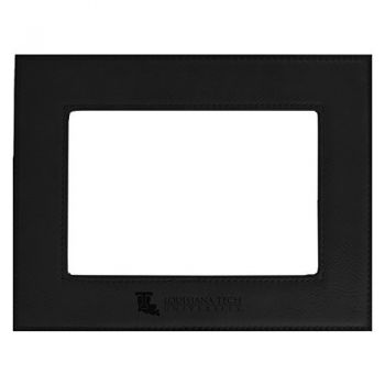Louisiana Tech University-Velour Picture Frame 4x6-Black