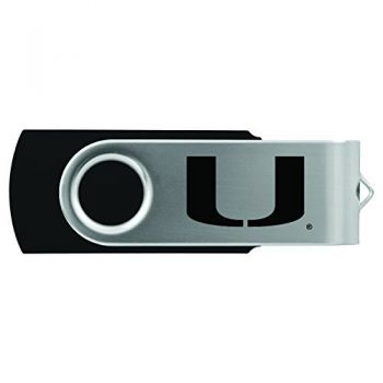 University of Miami -8GB 2.0 USB Flash Drive-Black
