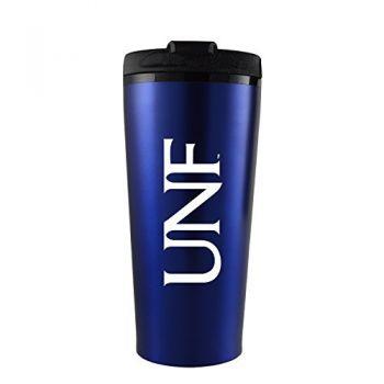 University of North Florida-16 oz. Travel Mug Tumbler-Blue