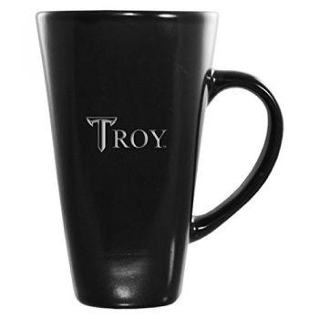 Troy University-16 oz. Tall Ceramic Coffee Mug-Black