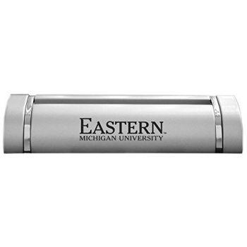 Eastern Michigan University-Desk Business Card Holder -Silver