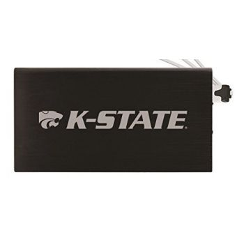 8000 mAh Portable Cell Phone Charger-Kansas State University -Black