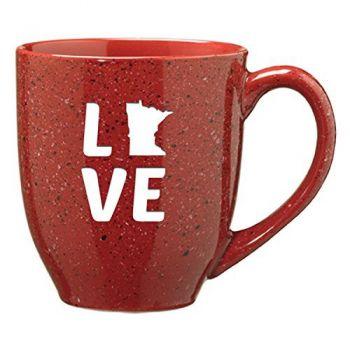 16 oz Ceramic Coffee Mug with Handle - Minnesota Love - Minnesota Love